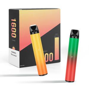 Puff XXL 1600 Puffs Puff Plus Pods Einweg Vapese Pens Vapes Vaporizer 1000mAh Batterie 6.5ml Gerät Pods Starter Kit Puff Bars XXL