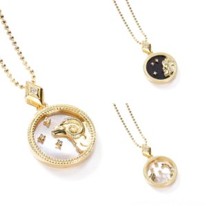 OHEZi Vnox Love Heart Necklace and Earrings Jewelry Twelve Constellations Stone nomos S925 neckla for Sets Hollow CZ Women Jewelry Sets