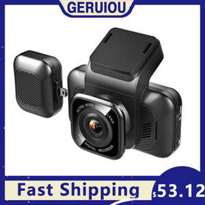 Carro DVR DVRS AIBA A12 Dash CAM 3 polegadas Tela Full HD1080P Estacionamento Monitor DashCam Triplo Lente Câmera Dual Night Vision 24h 1701
