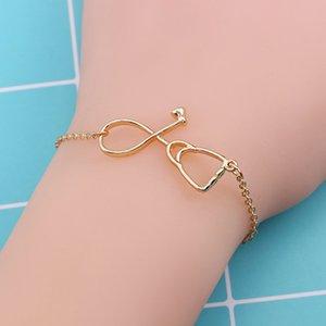 stéthoscope infirmière médecin Creative Mode Pendentif Bracelet uniques Accessoires pour hommes Bracelet cadeaux bijoux simples de conception