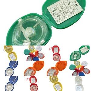 Masque à sens unique Masque de réanimation CPR Sauvetage avec 10pcs / Lot Soupape à couper la poche pour la formation des premiers secours Équipement d'urgence multiw9p 6SJN9