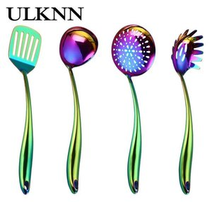 ulknn stainless steel dazzling spoon serving fork housewear & furnishings kitchen clean convenient colourful dazzling spoon