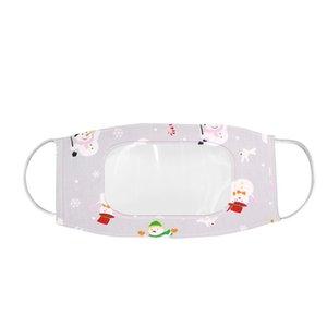 Sichtbare klare Fenster Ohne Holloop Mund Maske Lippenlese transparente Masken Weihnachten Gesichtsmaske Lippe taub-stumben Gesichtsschild HWB2514