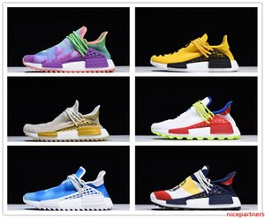 2020 high quality NMD Human Race men's shoes Pharrell Williams Sample Yellow Core black sports designer shoes ladies sports shoes