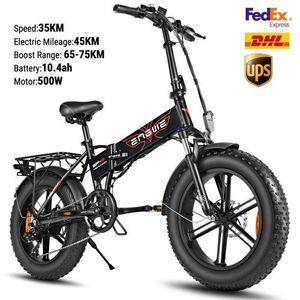 ABD UK STOK elektrikli bisiklet 48V 500w Katlama Elektrikli Bisiklet Fat Tire e bisiklet Dağ bisikleti Off Road Yüksek Hızlı Elektrikli Scooter W41215023