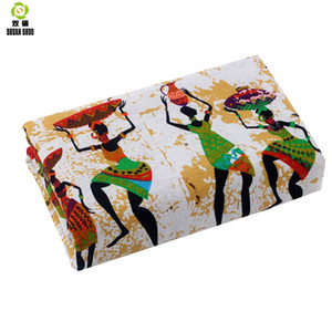 Shuanshuo African ethnic customs Cotton Linen fabric DIY Handmade Textile Sewing Patchwork For Bags Dress Clothes 150*50CM