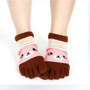 Creative Cinco dedo corta linda algodón mujeres nuevos calcetines de moda