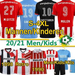 4XL PSV Eindhoven Männer Kits Kinder 20 21 Fussball Trikots 1990 98 Zuhause Götze Retro Malen Gakpo Ihattaren Dumfries Max Football Hemd Uniform