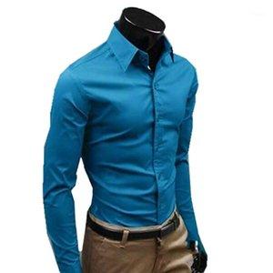 남성용 드레스 셔츠 남성 긴 소매 드레스 큰 사이즈 면화 수입 의류 하와이 셔츠 남성 사회 블라우스 검사기 브랜드 의류