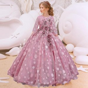 2020 Summer Flower Dress Pageant Kids Dresses For Girls Clothes Princess's Girls Dresses for Party and Wedding Prom 14 12 Year