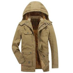 2021 Winter Parka Mäntel Männer Warme Dicke Baumwolle Gepolsterte Herren Fleece Mit Kapuze Casual Windjacke Mantel Plus Size Jacken