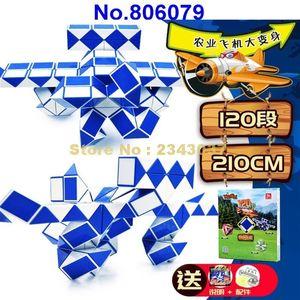 210 см 120 сегментов Волшебный линейка змея выводит кубики головоломки детей образование 806079 игрушка Y200428