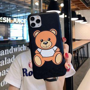اي فون حالة مصمم كارتون الدب مناسبة للIphone11pro ماكس حالة الهاتف المحمول إكسس / الجلود XR 7P لينة 8plus الحالات والنماذج النسائية بالجملة