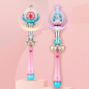 Fairy magic wand rotating crystal ball Lighted musical toys Star Magic Wand Children's Toys 2020 hot selling