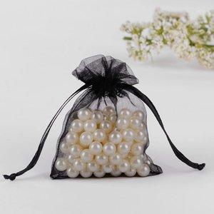 도매 - 10x15cm 블랙 얇은 organza 파우치 작은 포장 가방 보석 프로모션 선물에 대 한 포장 가방 맞춤 가방 100pcs1