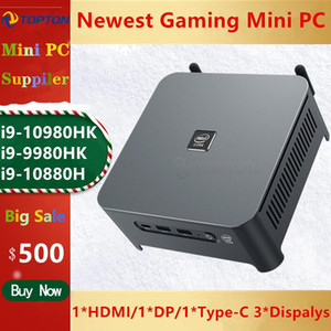 10 Gen Intel Mini PC Núcleo i9 10980HK i9 9980HK 2 Lans NUC Windows 10 2 * DDR4 2 * NVMe Gaming desktop DP HDMI tipo C 3x4K exibição
