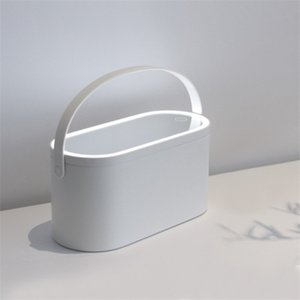 Makeup Organizer Box with LED Light Mirror Portable Travel Makeup Cosmetics Organizer Touch Light Mirror Makeup Case Dropship C0116
