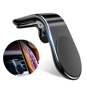 Suporte do suporte do telefone do carro magnético de 360 metálico para o ímã do iphone Samsung Xiaomi Carrete do ímã do ar no suporte da montagem do GPS do carro