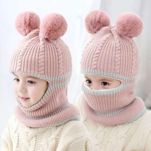 Детская крышка шерстяной головки, утепление шеи интегрированная шляпа, детские плюшевые, лицо и уха для детей в возрасте 1-5 лет