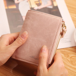 Fashion Candy Color Small Wallet PU Leather Coin Purse Short Female Zipper Clutch Bag Coin Purse Credit For Girl