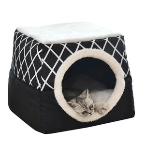 Pet Cat Bed Cat House Removable Warm Litter Box Kennel for Dog Puppy Home Sleeping Kennel Teddy Comfortable House Dog Bed