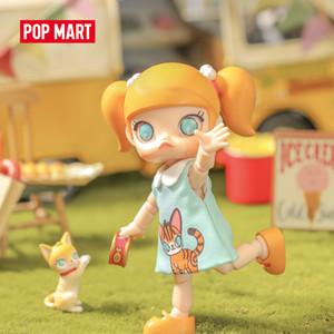 Pop Mart Molly BJD Muñeca Muñeca Coleccionable Vestido lindo Action Kawaii Regalo Kid Boy Chico Plastic Toys Figura que se ven hermosa hoy 201202