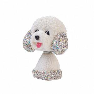 Nodding Dog Ornements Mini Bobble Head Jouets pour voiture Décoration Pug Bobblehead Mini Puppy Dog Dashboard Décoration rW93 #