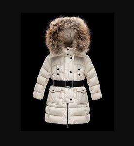 2021 Детская девушка / Женщины Мальчик Куртка Парки Пальто с капюшоном для девочек Теплые толстые Куртки Детские Капюшоны Настоящие 100% Мех Зимние Пальто
