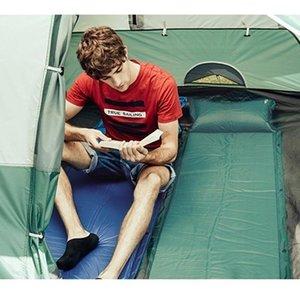 Colchón de aire estera estera viajar de 3 colores doblado colchón de aire portátil medio tela de la tienda de alfombras de camping