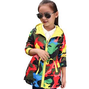 Abesay Automne Sports Veste pour filles Camouflage Girls Veste Printemps Enfants Manteaux Vêtements pour filles 4 6 8 10 12 ans 201110