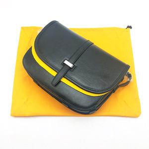 Bolsa de hombro para hombre de alta calidad Mini Mini Mensajero bolsas recubiertas lienzo con cuero genuino Cross Cross Body Bolsa con bolsa de polvo