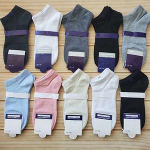 Homens Mulheres Ankle Meias Carta Impressão Sock Slippers Esportes Algodão Anklet Meninas Meninas Meias Navio de Verão Meias de Sneaker Curto Com Tag