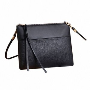 ASDS-Women's Clutch Bag Simple Black Leather Crossbody Bags Enveloped Shaped Small Messenger Shoulder Bags Big Sale Female Bag MUBe#