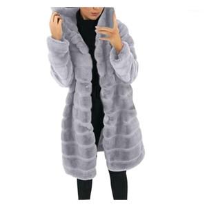 Plus Size Womens Faux-Fur Gilet Long Sleeve Waistcoat Body Warmer Jackets Coat Winter Long Hooded Outwear For Female Clothes1