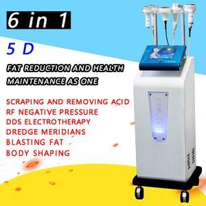 5D 80K ultrasonik kavitasyon 5D Oyma Enstrüman Rf Vakum 5D güzellik ekipmanları Microcurrent Fırça ve 3 boyutlu Vakum RF kolu oyulmuş