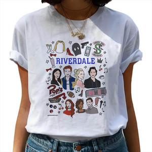 Riverdale Harajuku Snake Print T Shirt Women Southside Serpent Ullzang Cartoon T shirt 90s Graphic Tshirt Fashion Top Tee Female