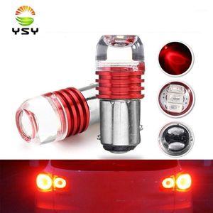 2pcs LED LED Strobe Flash Light 1157 BA15S Bay15D P21W P21W P21 / 5W Frein Blign Blink Ampoule 12V Rouge Blanc Blanc Bleue Auto STOP1