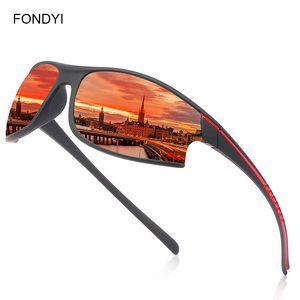 FONDYI Mens Designer Outdoor Sports óculos polarizados pesca UV400 Shades Óculos de sol original fresco óculos de sol com caso