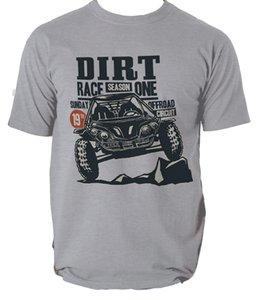 Engraçado Casual manga curta T camisas DIRT RACE UMA RETRO CAR TRACK OFFROAD Camiseta T sete cores Camiseta esporte moletom com capuz Hoodie