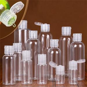 5ml 10ml 20ml 30ml 50ml 60ml 80ml 100ml 120ml Clear Empty Plastic Flip Cap Bottle Jar Pot Vial Container for Liquid Lotion Shower Gel
