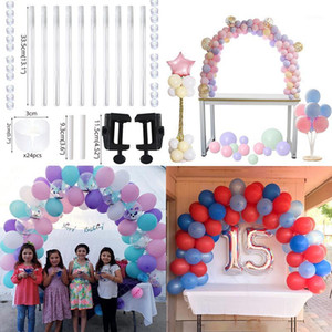 Cyuan 38pcs Balloon Balloon Arch Basket Stand Birthday Party Palloncini Accessori Morsetti Decorazione di nozze Tavolo Ballons Arco Cornice Kit1