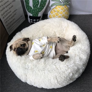 40 50 60 70 80cm Pet Dog Cat Fleece Warm Bed House Plush Cozy Nest Mat Pad Pet House Bed Sofa Sleeping Bag Winter Nest Kennel Dogs Pad