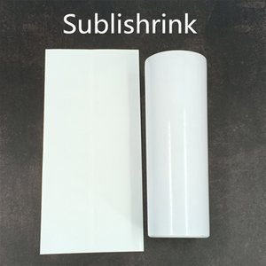 100pcs lot White Sublishrink Shrink film Heat shrinkable plastic film for oven sublimation Cups 20oz 30oz skinny tumblers 12oz egg cups