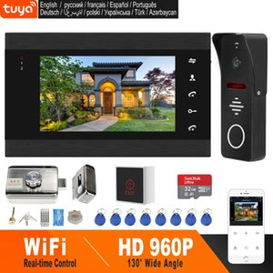 HomeFong Wifi Videoüberwachung Funk-Türsprech Home Security Access Control System Kits APP Fernentriegelung Real Time Control