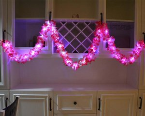3M Thick LED Light Hawaii Flower Hanging Garland Banner Bunting Wreath Summer Tropical Hawaii Home Wedding Glow Party Supplies