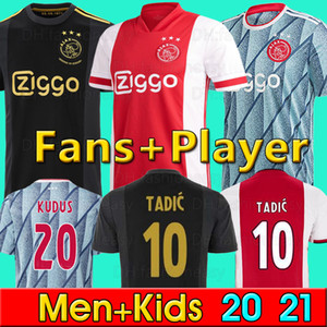 20 21 AJAX amsterdam maillots de football FC 2020 2021 PROMES TADIC NERES ZIYECH hommes + enfants enfant kits de football chemises uniformes MAILLOT de foot loin de la