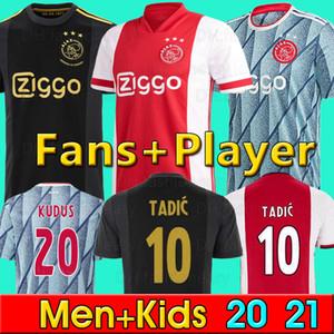 20 21 Ajax Amsterdam FC camisas camiseta de fútbol 2020 hombres 2021 PROMES TADIC neres ZIYECH + niños equipos de fútbol uniformes maillot de distancia chandal