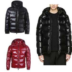 Jacket Mens Inverno de Down soprador Jacket capuz de espessura do revestimento do revestimento dos homens de alta qualidade jaquetas Homens Mulheres Casais Brasão Parka Inverno