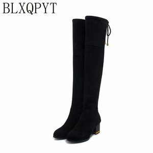 BLXQPYT Big Size 34-48 for Women High Heels over knee boots Autumn Warm Winter Shoes Round Toe Platform Knight Martin Boots08-23