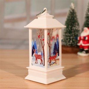 8 stili natalizi flame lanterna santa claus decorazione piccola luminosa candeliere lampada pupazzo di neve alci squisita decorazione creativa ew2723